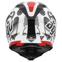 AGV AX-8 Evo Cool Beyaz/Siyah/Kırmızı Kross Kask
