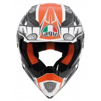 AGV AX-8 EVO MULTI COOL WHITE/BLACK/ORANGE Kask
