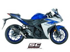 YAMAHA YZF R3 OVAL HOMOLOGATED SLIP ON