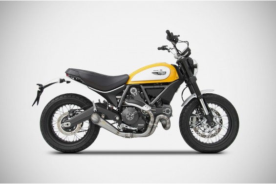 DUCATI SCRAMBLER CONICAL VERSION TITANYUM 2>1 FULL KIT